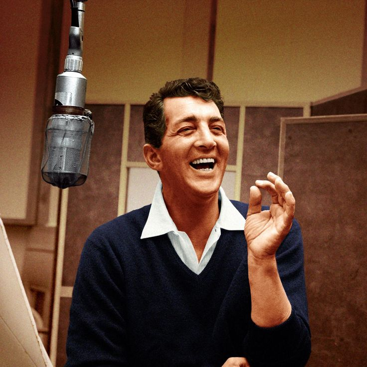 "Dean Martin [1917, Steubenville, OH - 1995, Beverly Hills, CA] was a singer, actor, comedian, and film producer. One of the most popular and enduring American entertainers of the mid-20th century, Martin was nicknamed the ""King of Cool"" for his seemingly effortless charisma and self-assurance. He was a member of the ""Rat Pack"" and a star in concert stage/nightclubs, recordings, motion pictures, and television."