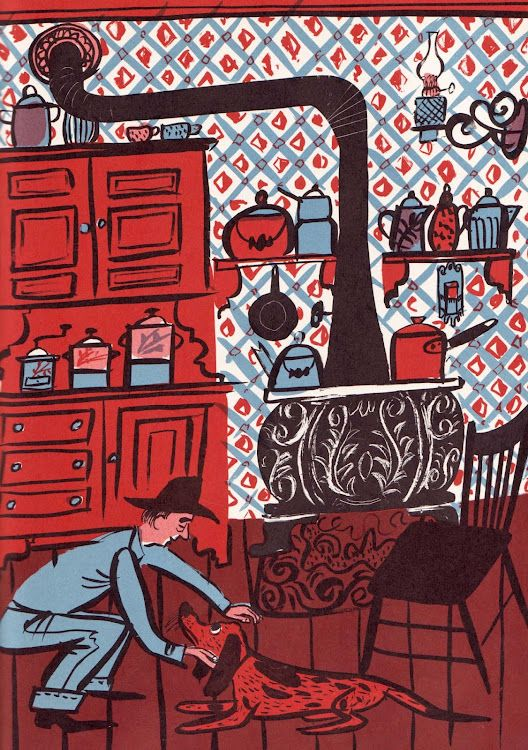 """From """"Houn' Dog"""" by  Mary Calhoun, illustrated by Roger Duvoisin and published by William Morrow, 1959."""