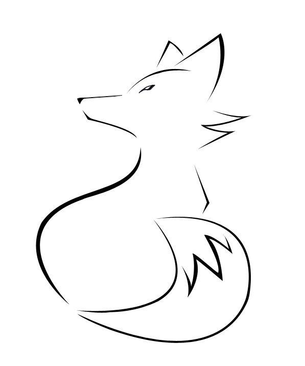 Very Simple Fox Tattoo