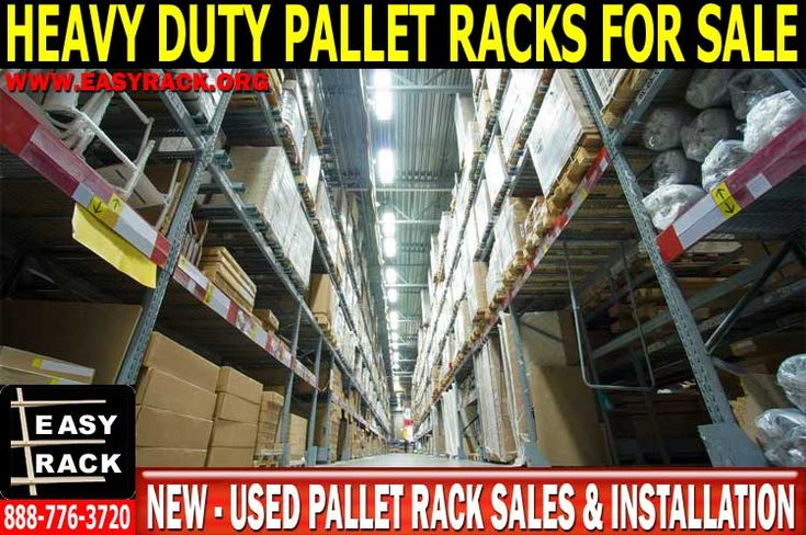 Call The Experts At Easy Rack For A Free Pallet Rack Quote 888-776-3720  New & Use Pallet Rack Sales & Installation  New & Used Heavy duty pallet racks allow for the consolidation and reorganization of inventory management—at up to 70% off the cost of new pallet racks. The complexities of auto parts, paper products, liquids, and tire storage can be methodically and cost effectively addressed with Easy Rack's new & used heavy duty pallet racks.
