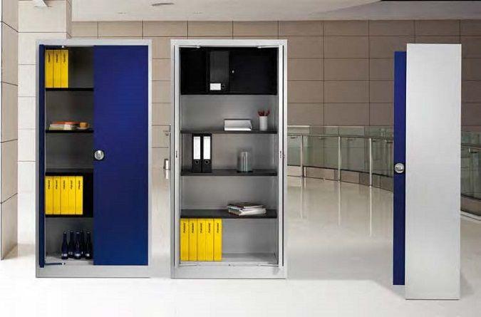 Einschwenktürenschrank von Mauser › Büroregale, Fachbodenregale und Pendelhefterregale von Schulte Lagertechnik -