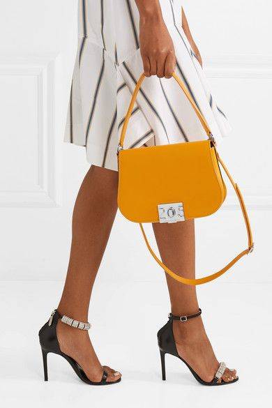 2b423b2dc0 CALVIN KLEIN 205W39NYC | Bonnie grosgrain-trimmed leather shoulder bag |  NET-A-PORTER.COM