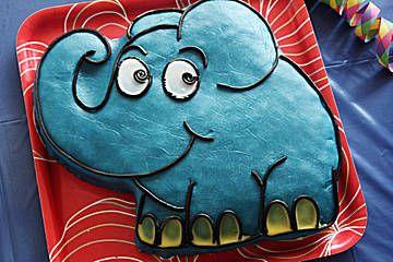 Lettas kleine blaue Elefant  - Motivtorte