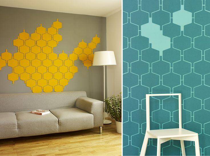 Felt-tiles in 100% merino wool, by designer Monika Piatkowski and HIVE Space.