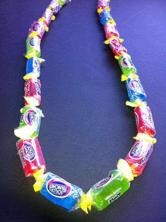 Adult Jolly Rancher or Bubble Gum Candy Lei