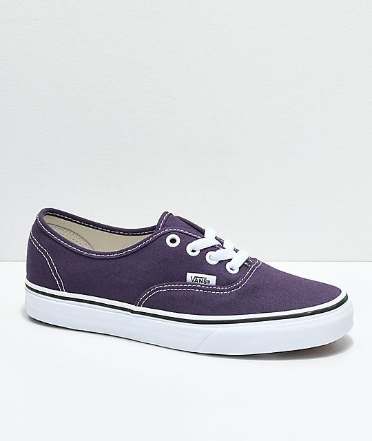 ef0f6a134c189 Vans Authentic Nightshade   White Skate Shoes in 2019