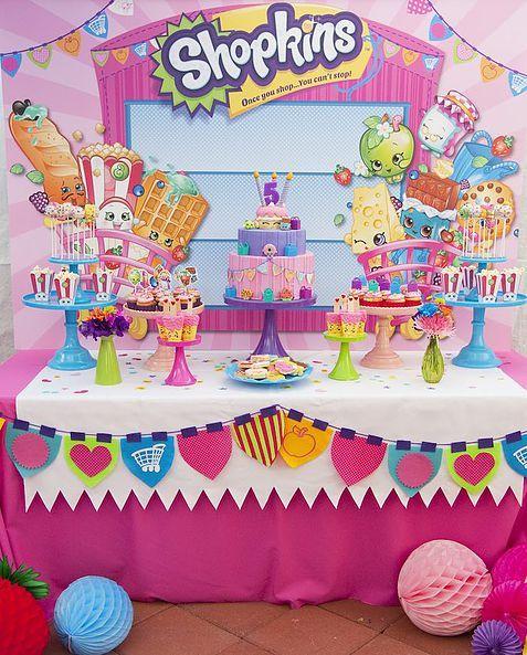 Idéias e inspirações para festas de aniversário com o tema Shopkins