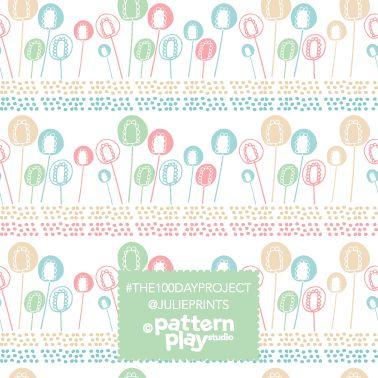 Surface pattern design - lollypop flowers by Julie Harrison www.patternplaystudio.com
