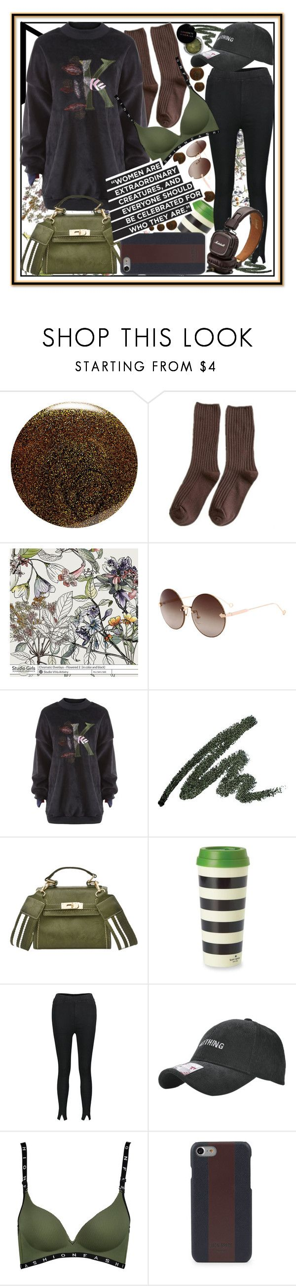 """""""Army-green going out,boys and girls-watch out!"""" by jelena-bozovic-1 on Polyvore featuring JINsoon, Kate Spade and Jack Spade"""