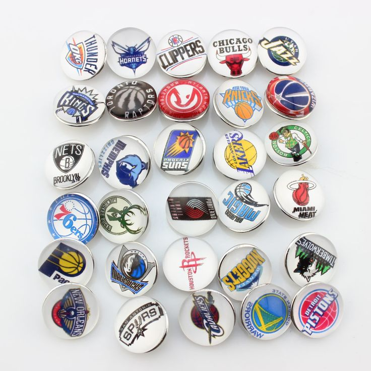 American basketball team snap button charms glass sports snap button jewelry mix 60pcs(each 2pcs)