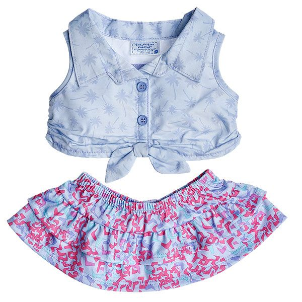 Palm Tree Skirt Outfit 2 pc. | Build-A-Bear