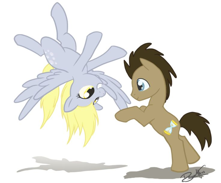 Derpy and Doctor Whooves by DawnAllies.deviantart.com on @deviantART