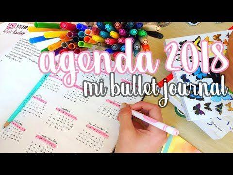 MI AGENDA PARA EL 2018 ♡ BULLET JOURNAL! Dani Hoyos - YouTube