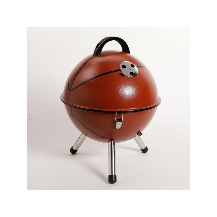 Gibson Basketball BBQ Portable Charcoal Grill, Brown