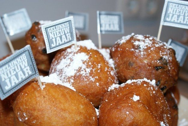 Eat Oliebollen, which are like big oily balls of dough, deep fat fried and covered in icing sugar. !!!!