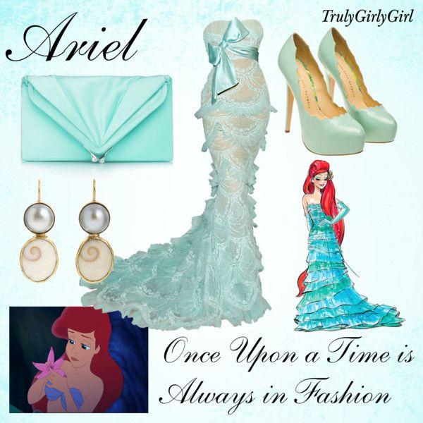 Disney Style: Ariel (Disney Princess Designer Collection), created by trulygirlygirl on Polyvore