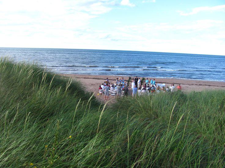 Ceremony overlooking PEI Sand Dunes
