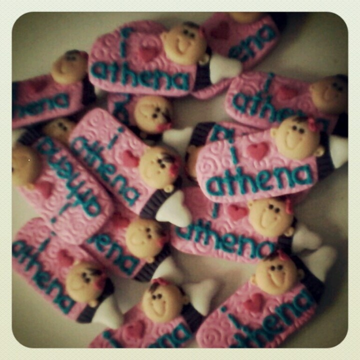 Polymer clay baby souvenis