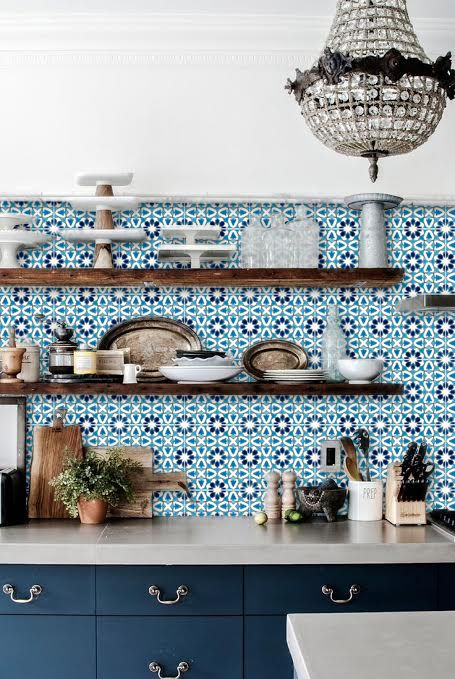 Turkish Blueray Tile Sticker Pack In Turquoise With