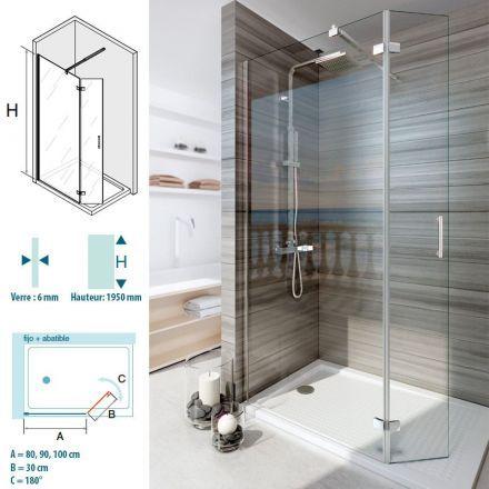 Les 25 meilleures id es de la cat gorie paroi de douche - Poser une paroi de douche fixe ...