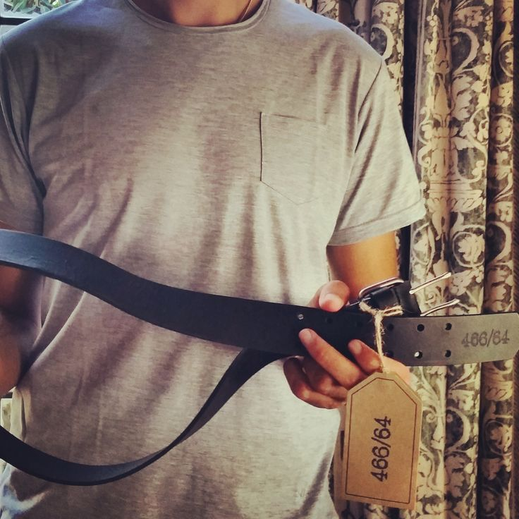 Some of our latest product, complete with new swing tags. Paolo wears the grey melange Protest Tee with raw neck detail and pocket. Another newbie is our double prong leather belt. All made in Cape Town. #Menswear #Fashion #Tshirts #Belts #Leather #ProudlySouthAfrican #LivingtheLegacy