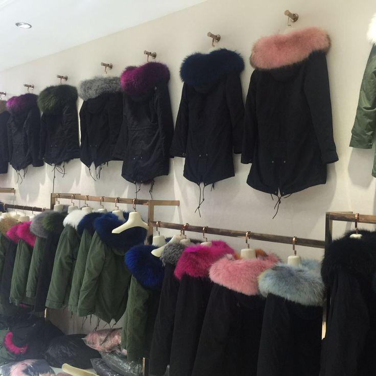 Yeni Moda kadın ordu yeşil sökülebilir Büyük rakun kürk yaka kapüşonlu uzun ceket parka dışkı tilki kürk astar kış ceket