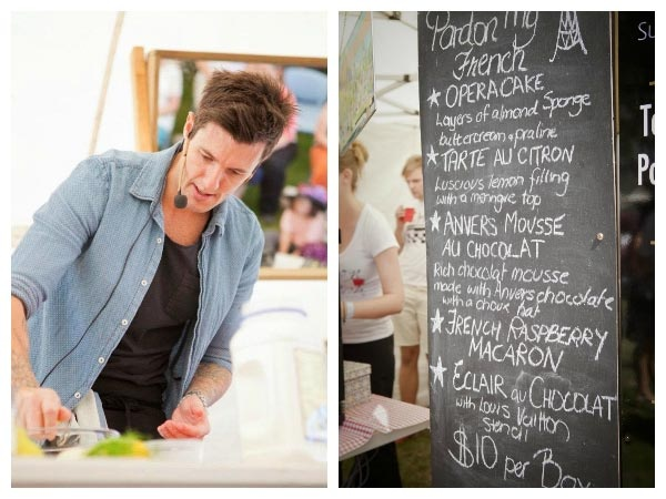 Ben Milbourne (MasterChef) at Taste the Harvest, Devonport Food and Wine Festival. Photo by Kelly Slater provided to Think Tasmania by Suzy Parravicini of the Devonport City Council. Article by Len Langan.