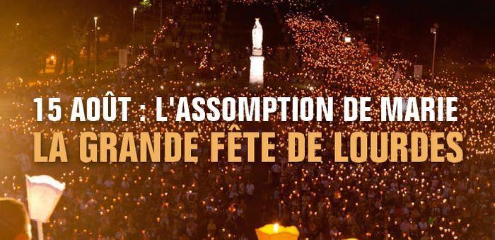La fête de l'Assomption en direct de Lourdes