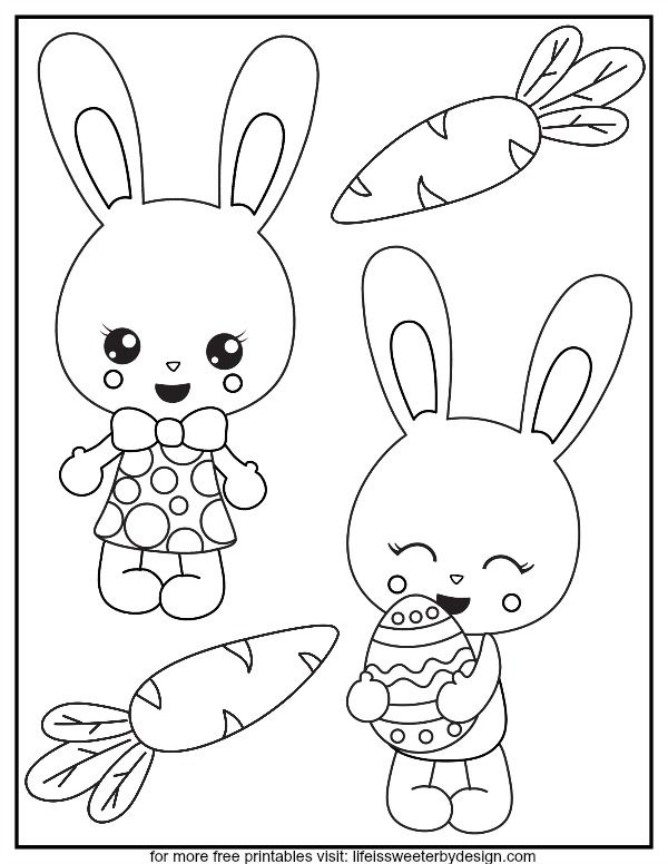 These Free Printable Bunny Color Pages Are Adorable And Kids Will Enjoy Coloring Them This Sp Bunny Coloring Pages Easter Bunny Colouring Easter Bunny Pictures