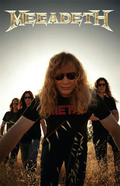 Megadeth - Dave Mustaine, originally from Metallica, broke apart from the group to form a heavier, faster tempo thrash metal band.