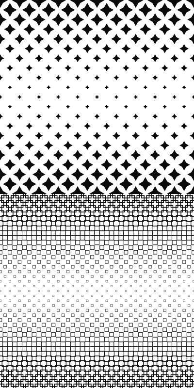 64 black and white pattern backgrounds - vector background set (EPS + JPG)