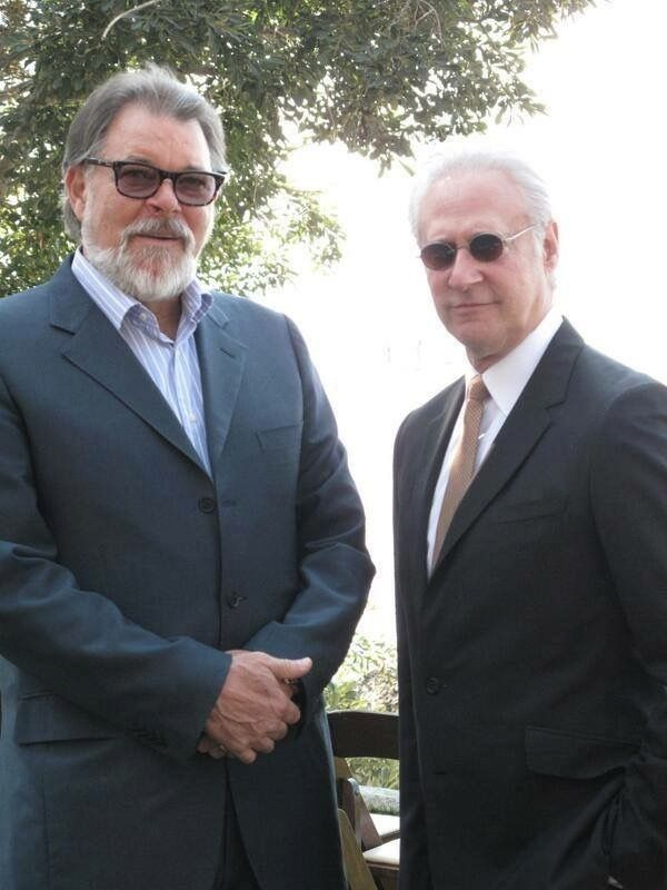 The inexorable ticking of the clock continues: Jonathan Frakes (Riker) & Brent Spiner (Data)