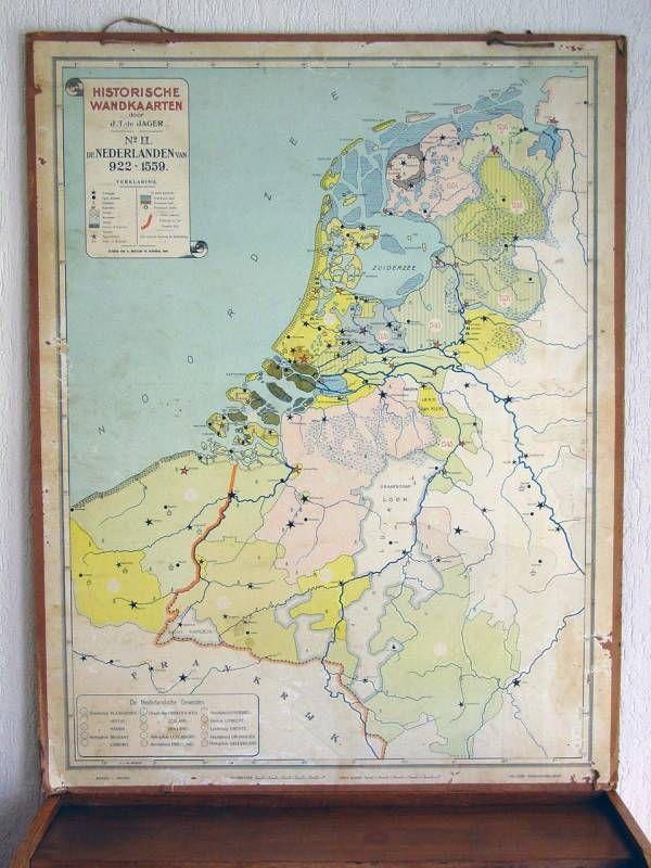 historische kaart nederland 922 - 1559