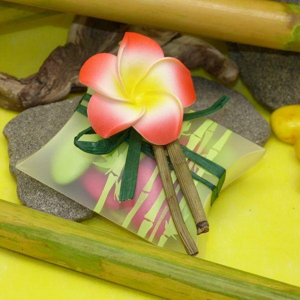 ballotins dragées exotique bambou et fleur de Frangipanier
