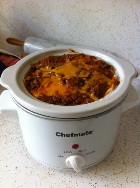 CROCKSTAR Contest Entry: Slow Cooker Layered Enchilada Casserole- So Good! www.GetCrocked.com