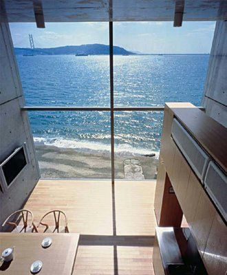 Tadao Ando incredible view of the Golden Gate Bridge. i love this view from this home. sunshine:-)