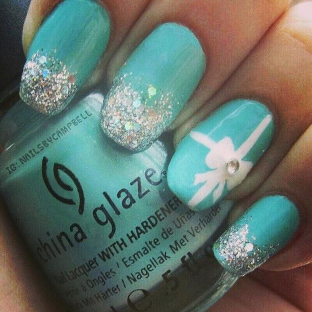 Love the Tiffany nail - Best 25+ Tiffany Nails Ideas On Pinterest Tiffany Blue Nails
