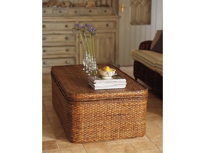 This Extra Large Rattan Chest makes an excellent coffee table with stacks of #storage space inside. This beautifully crafted handmade storage trunk comes with a removable shallow tray so you can keep your remote controls and newspapers easily to hand but out of sight. #livingroom