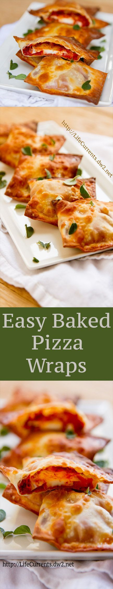Easy Baked Pizza Wraps  ... These make a great after-school or after-work snack. They'd also be great on any tailgating or football party spread, or any appetizer snack menu.
