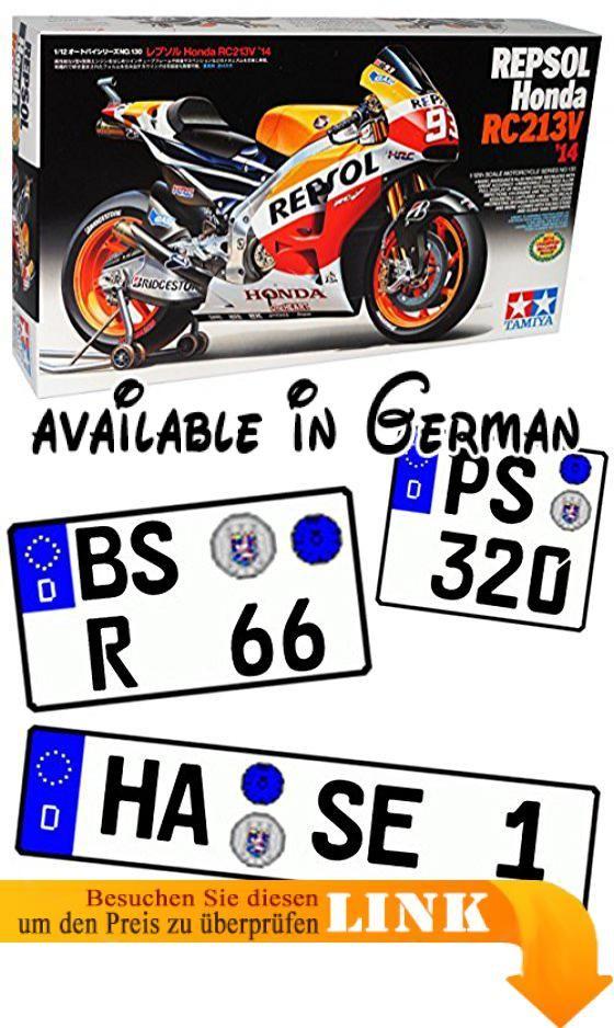B01DCM7HD0 : Honda RC213V 2014 Weltmeister Marc Marquez Nr 93 Repsol 14130 Kit Bausatz 1/12 Tamiya Modell Motorrad mit individiuellem Wunschkennzeichen. INKUSIVE WUNSCHKENNZEICHEN: Das Fahrzeug wird mit IHREM individuellem Wunschkennzeichen geliefert! <br />Die Kennzeichen sind selbstklebend - also einfach auf die gewünschte Größe ausschneiden und die Folie hinten abziehen. <br />___die Nachfrage des Kennzeichens erfolgt - AUTOMATISCH innerhalb 1 Werktag - bitte vorher