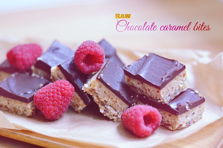 Raw Chocolate Caramel Bites // http://bananabloom.com #raw #baking #vegan