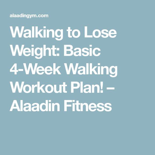 Walking to Lose Weight: Basic 4-Week Walking Workout Plan! – Alaadin Fitness