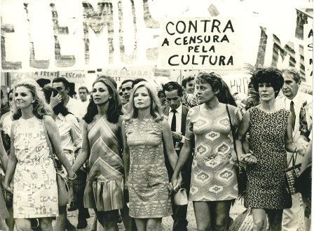 An anti-censorship protest in Brazil during the military dictatorship (1968-1985)
