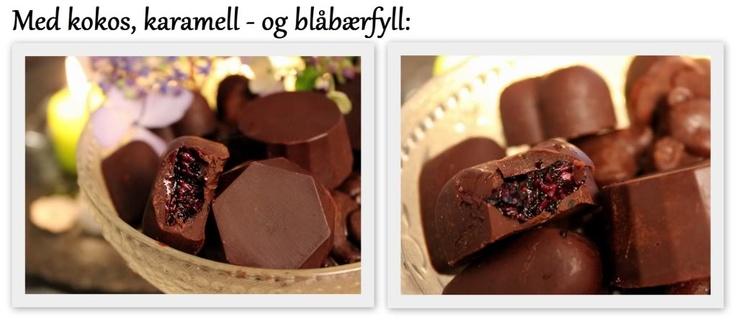 Raw sjokolade med bringebær