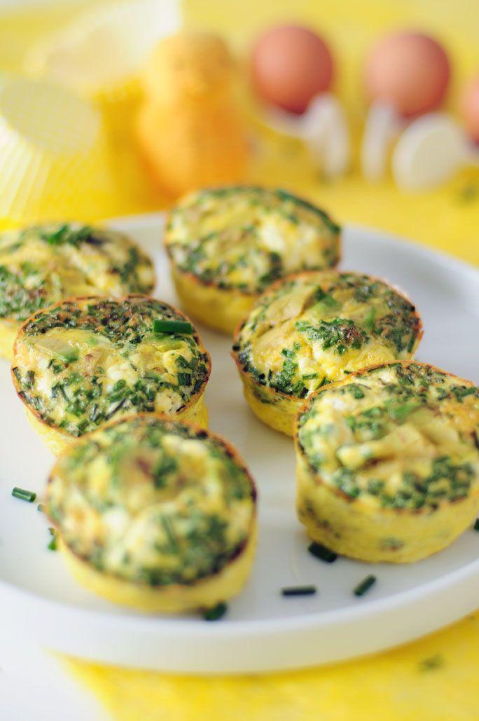 Ei muffins met avocado