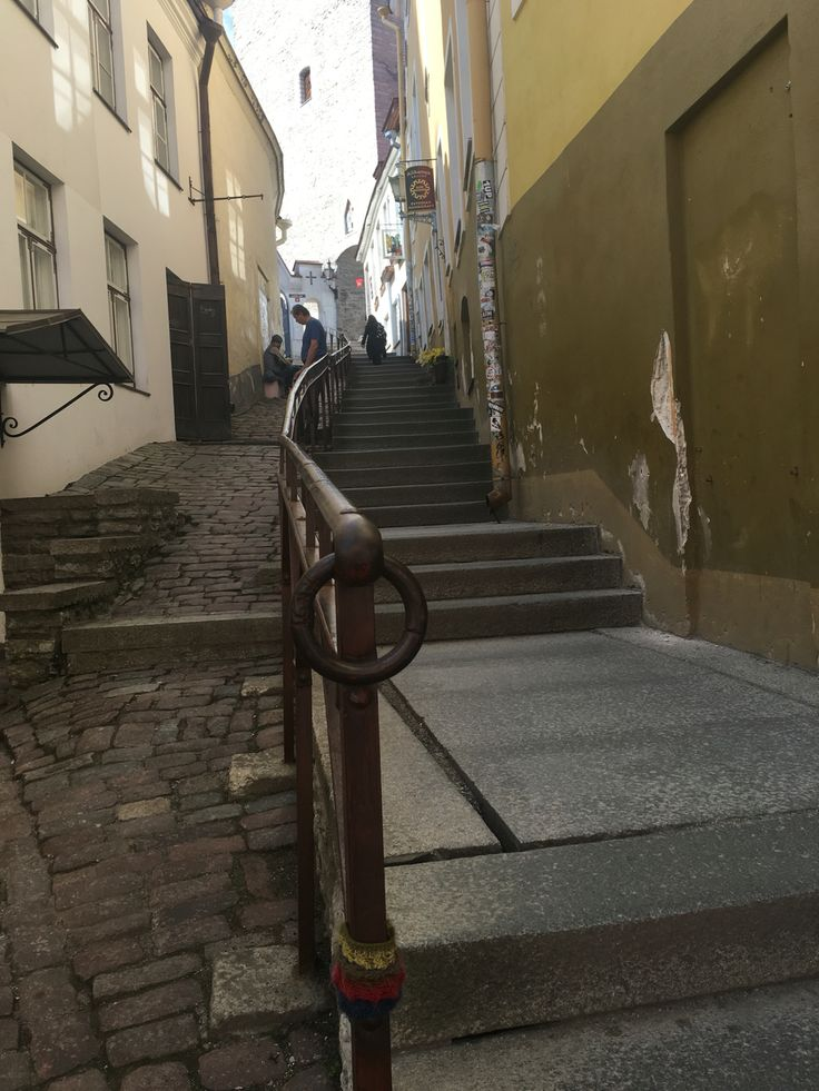 Tallinn, Estonia. Why do staircases like these always feel like they lead to adventure?!