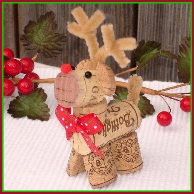 Dollar Store Crafter: Turn Wine Corks Into A Rudolph The Red Nose Reindeer Christmas Ornament