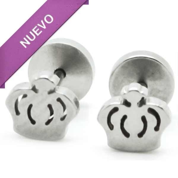 Joyas de Acero-Aros-EA0824. Aro de niñita con tornillo de tope, tamaño 5 mm