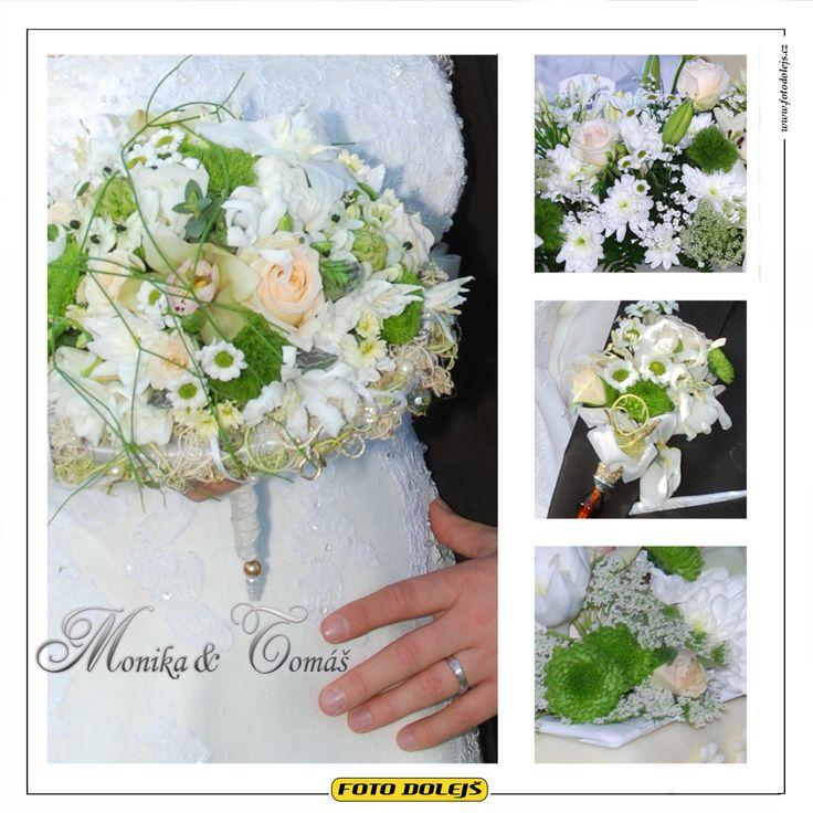 Monika a Tomáš, svatební květiny