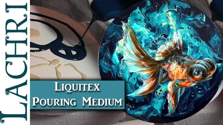 I'm reviewing the Liquitex Pouring Medium and showing you how it can be used for more that just abstract work! I've got tips on what supplies you will need to get this look and what to pay attention to when painting a three-dimensional goldfish in acrylics! This lesson covers a lot!  Video by Lachri Fine Art